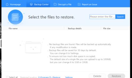 estauration fichier 360 Protector Document