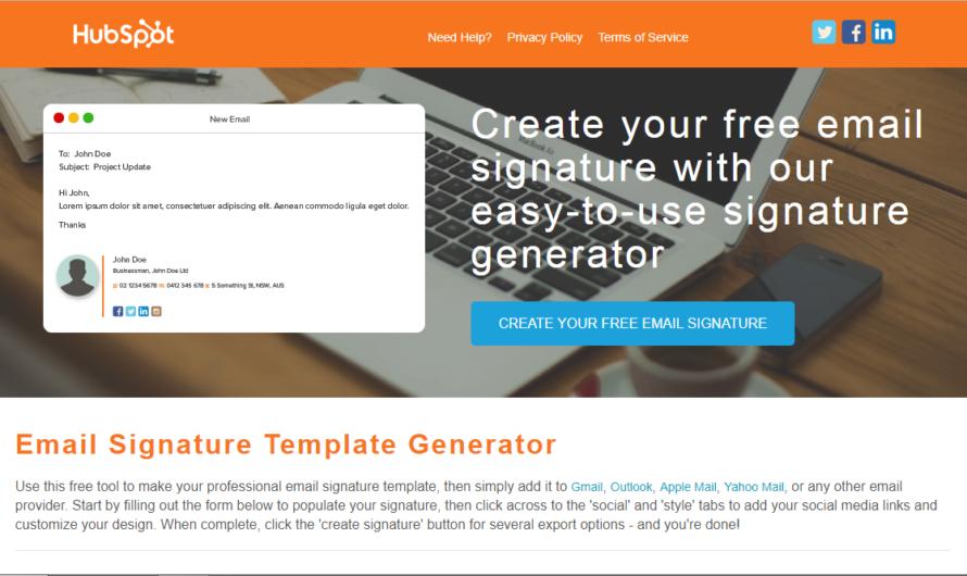 Créer une signature personnalisée pour vos mails
