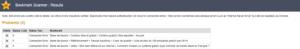 resultats Bookmark scanner