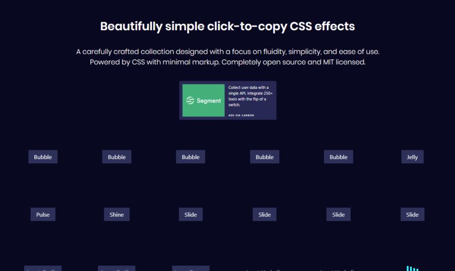 CSSFX : des effets CSS prêt à l'emploi