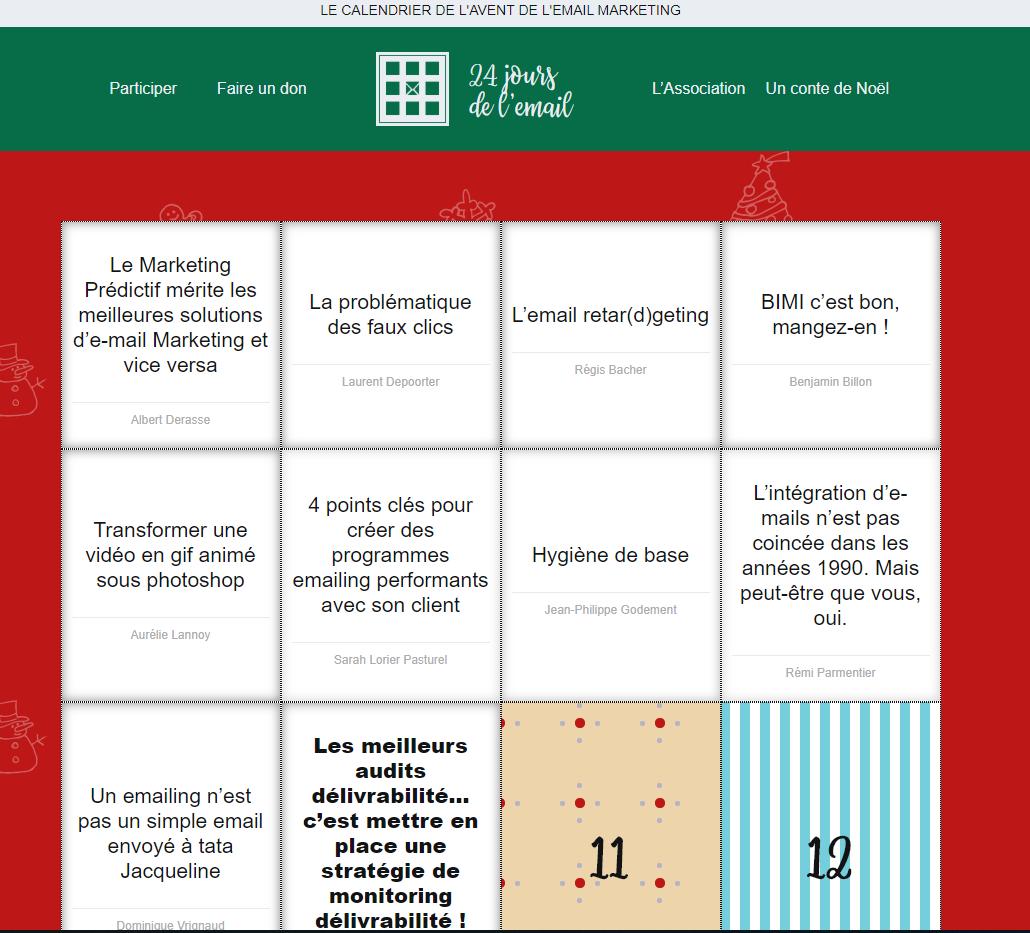 2 calendriers de l'avent en français pour webmasters
