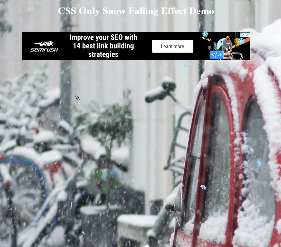 Effet de neige qui tombe en CSS