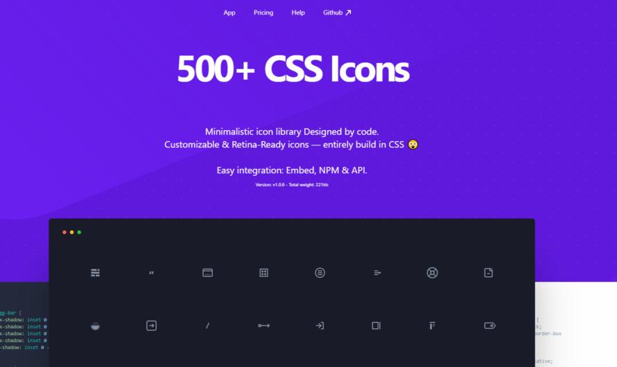 Une bibliothèque de plus de 500 icônes en CSS !