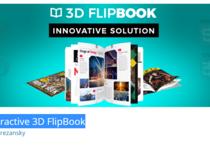 Interactive 3D FlipBook pour WordPress