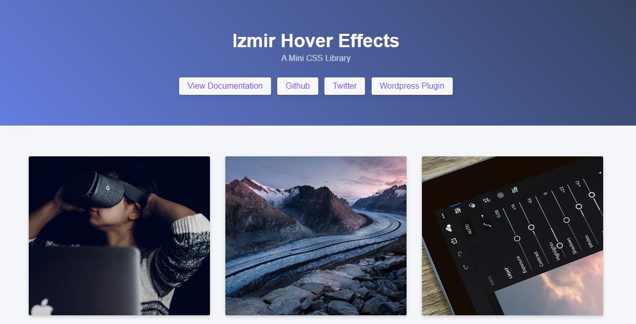 Izmir : une librairie d'effets CSS