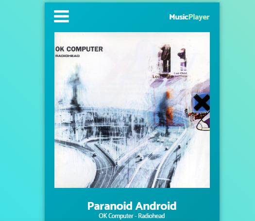 Daily UI#009 Music Player Redone