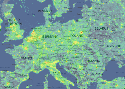 Light pollutionmap : la carte interactive de la pollution lumineuse