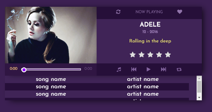Music Player CSS