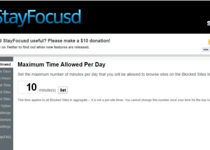 Augmenter votre productivité en limitant les divertissements avec StayFocusd