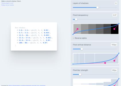Des ombres CSS parfaitement lisses