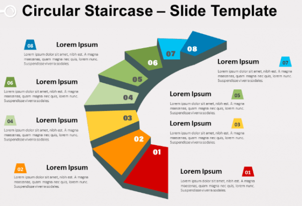Free circular staircase
