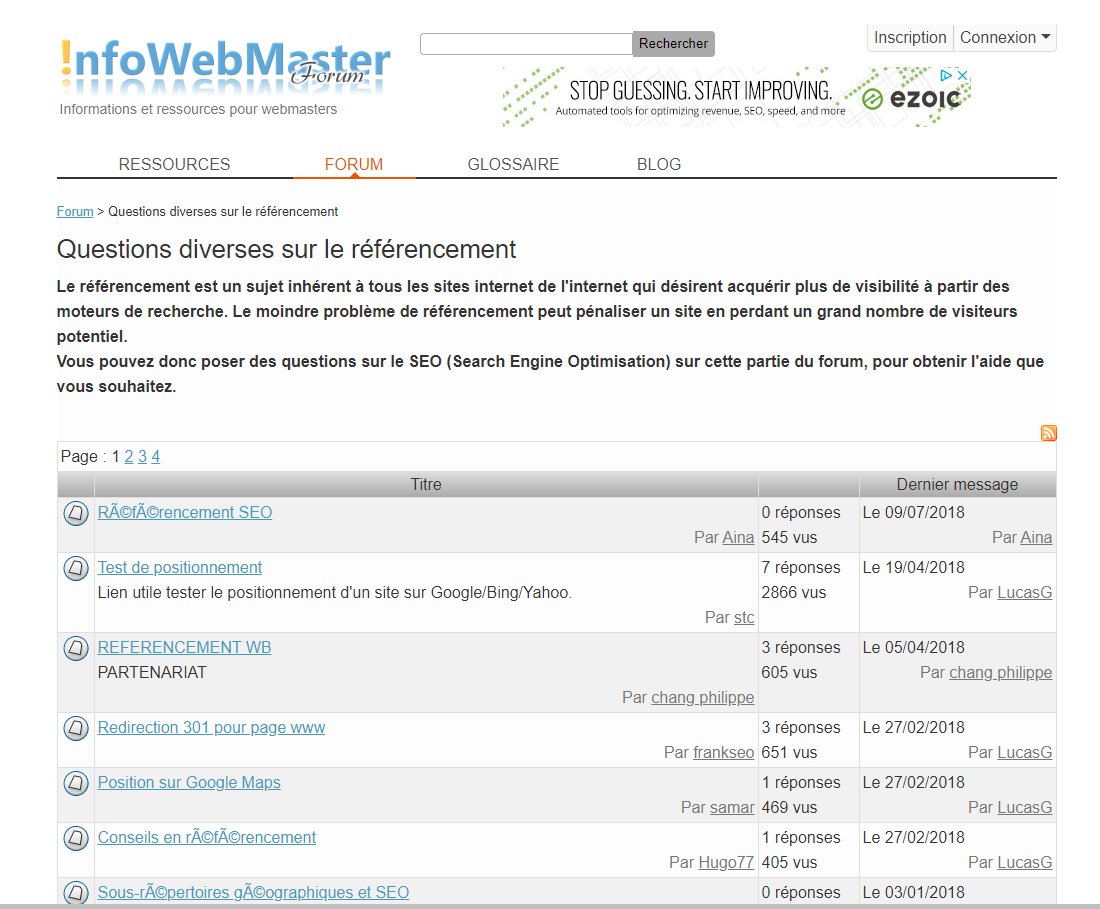 Info WebMaster Forum