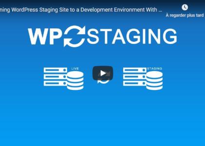 WP Staging : un plugin pour créer un site de staging