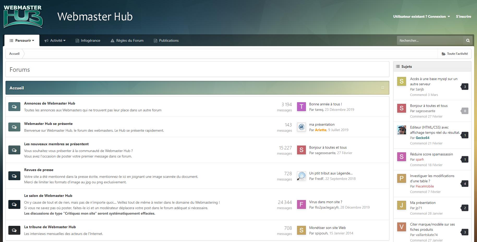 webmaster hub