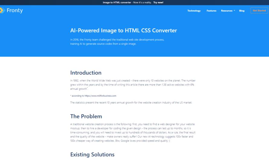 Générer une page HTML à partir d'une image