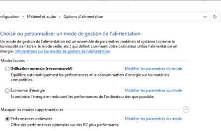 performances optimales windows 10