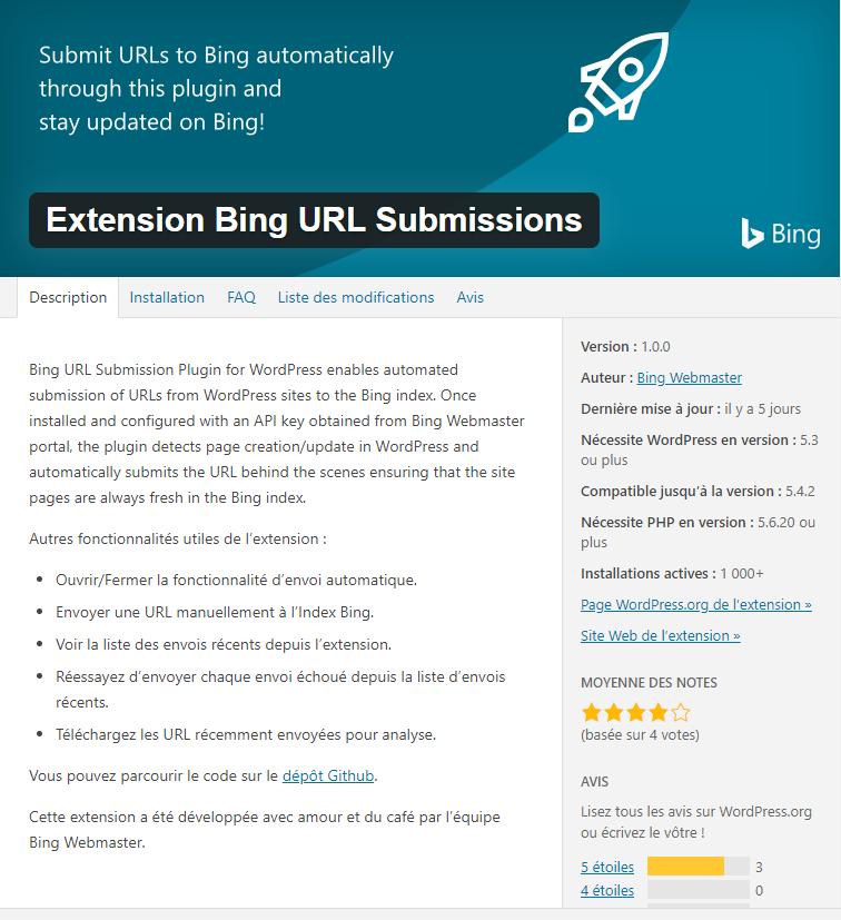 Soumettre automatiquement les URLS de votre site WordPress à Bing