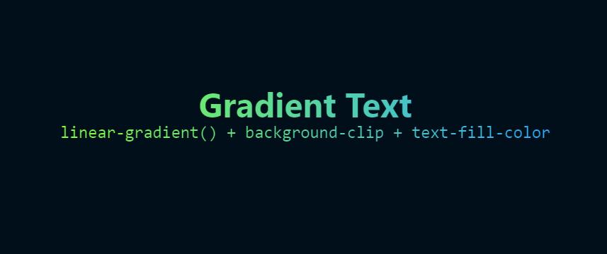 Un effet de gradient coloré sur du texte en CSS