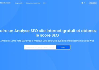 Sitechecker, un outil pour faire un audit SEO de votre site web