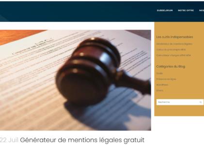 2 générateurs de mentions légales pour vos sites web