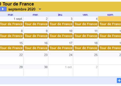 Ajouter le calendrier du tour de France à Google Calendar