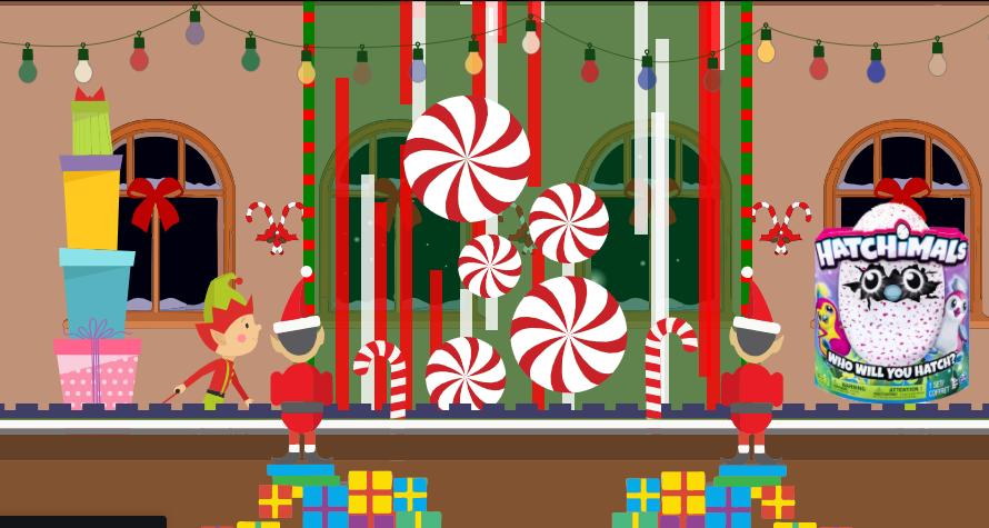 Une animation pour vos pages web sur le thème de l'atelier du Père Noël