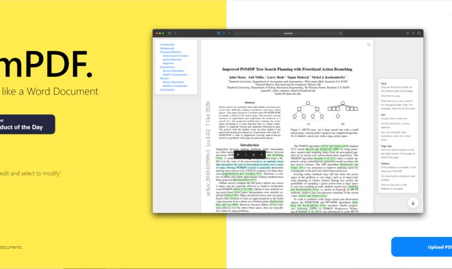 Modifier un fichier PDF en ligne