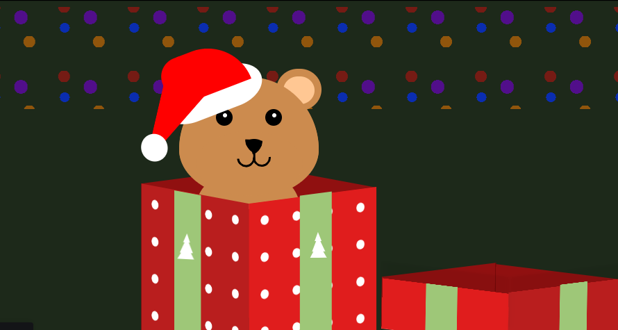 Une animation de Noël en HTML et CSS : 🎀Festive Christmas Gift 🎁