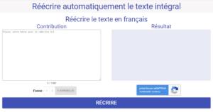 reformuler du texte