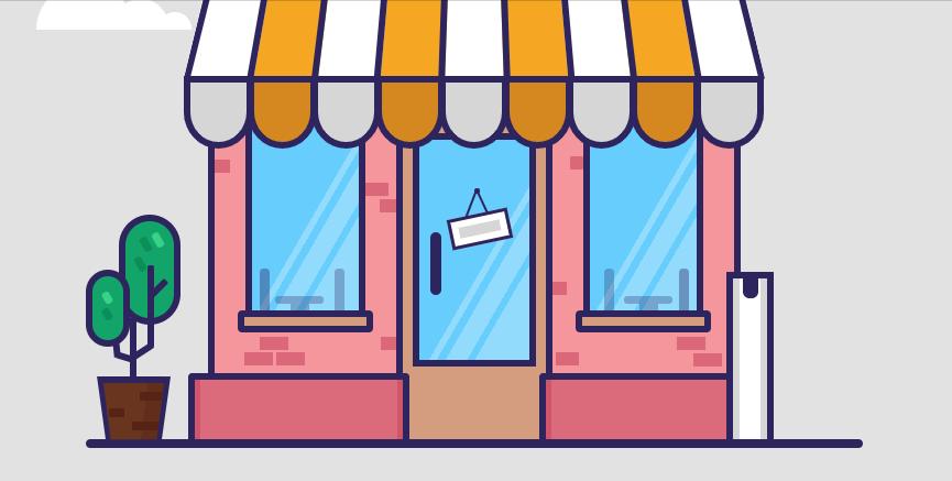 Une devanture de magasin en CSS