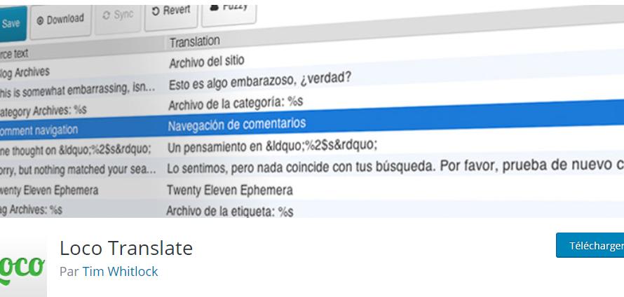Loco translate : une extension WordPress pour traduire facilement un thème
