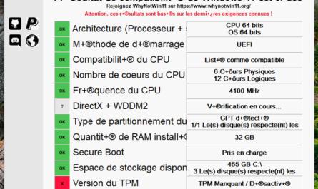test compatibilité Windows 11