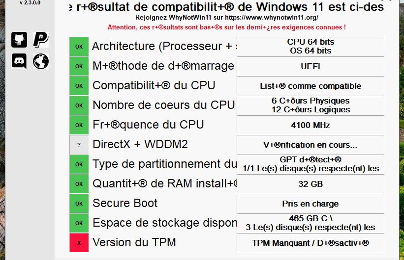 Votre PC est-il compatible Windows 11 ?