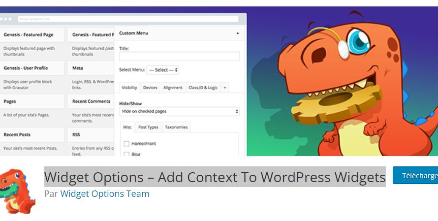 Un plugin pour paramétrer vos widgets WordPress