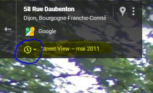 modifier date streetview